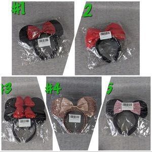 2 packs (4 pcs total) Mouse Ears/Bow Headbands
